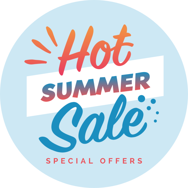 Hot Summer Sale graphic badge